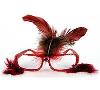 Очки - гламур с перьями,5 видов