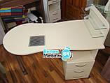 """Манікюрний стіл """"стандарт"""" з вбудованою витяжкою+пуф для педикюру, фото 3"""