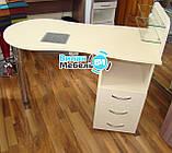 """Манікюрний стіл """"стандарт"""" з вбудованою витяжкою+пуф для педикюру, фото 4"""