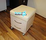 """Манікюрний стіл """"стандарт"""" з вбудованою витяжкою+пуф для педикюру, фото 6"""
