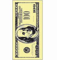 "Салфетка ТМ ""Luxy"" 33 * 33 MINI, 3 слоя, 10шт. ""Доллар"" 30уп / ящ"