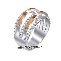Кольцо из серебра с цирконием (18 р)
