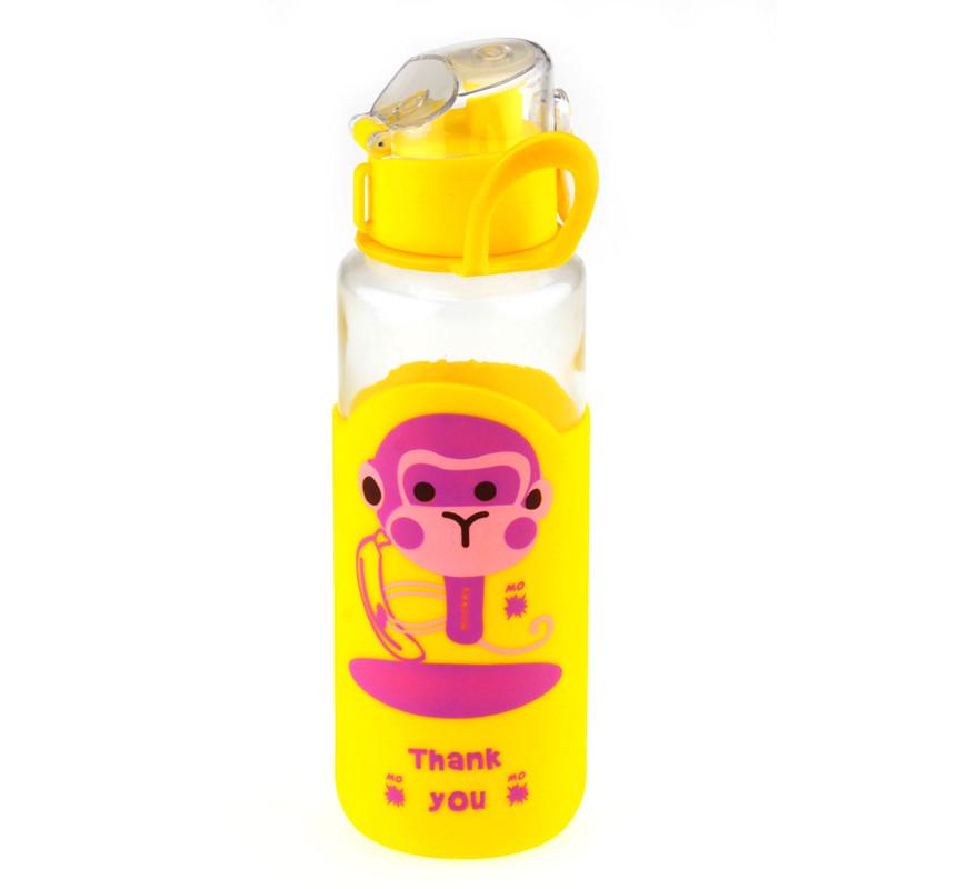 Бутылка с поилкой FUNKY MONKEY, 4 вида