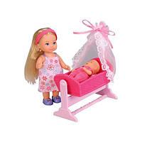 Кукольный набор Evi Love Кукла Evi с малышом в кроватке (573 6242)