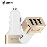 Автомобильная зарядка Baseus Smart Voyage Series Three Белый