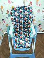 Односторонний чехол на стульчик для кормления Capella ABC design Joy Baby и подобные
