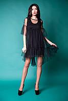 Платье Dolcedonna M1 black - Долчедонна (воздушная евросетка)