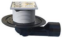 HL80 Трап для балконов и террас DN50/75 с морозоустойчивой запахозапирающей заслонкой, фото 1