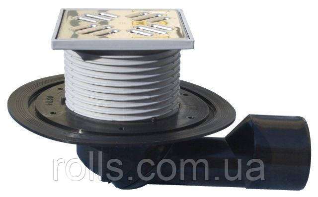 HL80 Трап для балконов и террас DN50/75 с морозоустойчивой запахозапирающей заслонкой