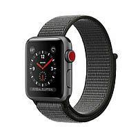 Apple Watch Series 3 GPS+LTE 42mm Space Gray Aluminum Case with Dark Olive Sport Loop MQK62 [42mm|Dark Olive Sport Loop]