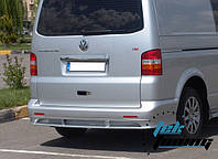 Накладка на задний бампер (под покраску) Т5 Транспортер ABT