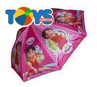 Розовый зонт для девочек с девочкой, CEL-35