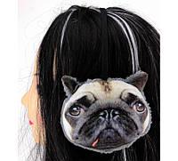 Наушники меховые собака/панда/кошка