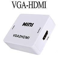 VGA - HDMI Адаптер-Переходник-Конвертер. Аудио 3,5