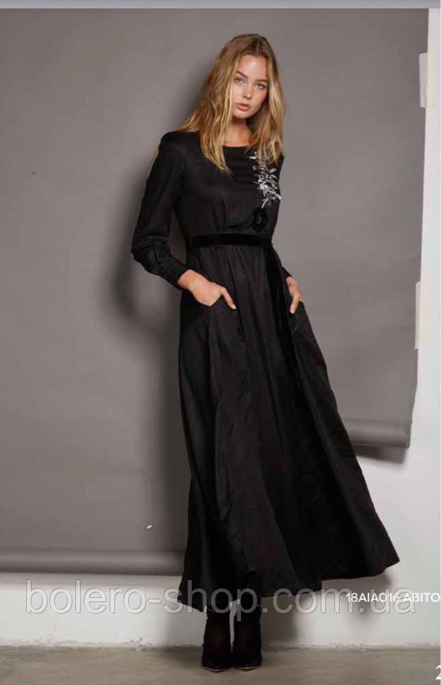 Платье черное длинное Италия Anima Gemella