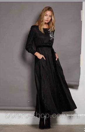 Платье черное длинное Италия Anima Gemella, фото 2