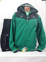 Тёплый спортивный костюм , зеленый/чёрный, SOCCER, размер 48.