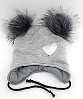 Теплая ангоровая шапка детская 48-53р