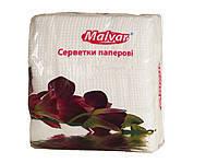 "Салфетка столовая 30шт. ""Malvar"" 24 * 24 БЕЛАЯ 16шт. / Уп ."