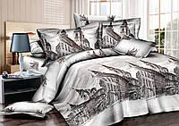 Двуспальный комплект постельного белья евро 200*220 хлопок  (7611) TM KRISPOL Украина