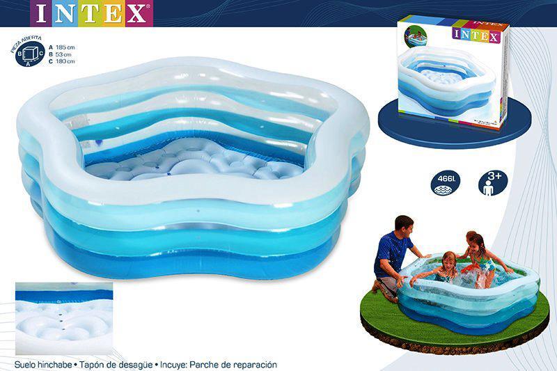 Детский надувной бассейн Intex 56495 Морская звезда 183х180х53 см, фото 1