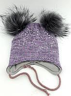 Теплая ангоровая шапка детская 44-48р