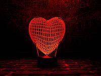 "Сменная пластина для 3D ламп ""Сердце"" 3DTOYSLAMP, фото 1"