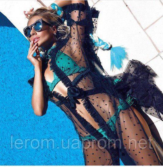 Пляжное шикарное платье с бусинами
