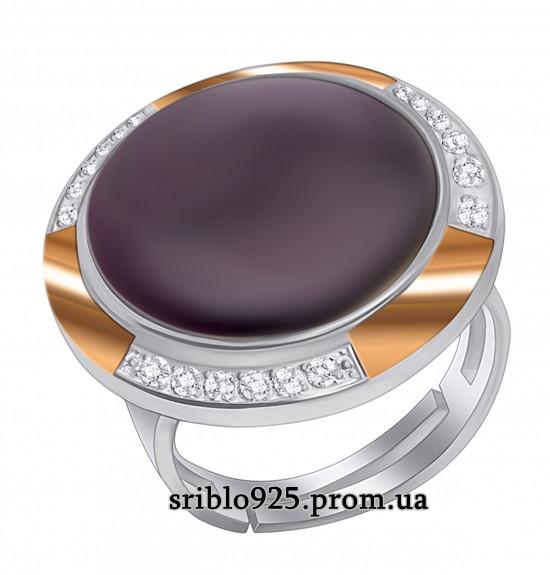 Кольцо из серебра с улекситом