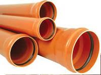 Труба для внешней канализации ПВХ 200мм 3,9мм SN2 Poland. Plastimex
