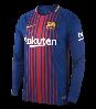 Футбольная форма Барселона длинный рукав сезон 2017-18, фото 2