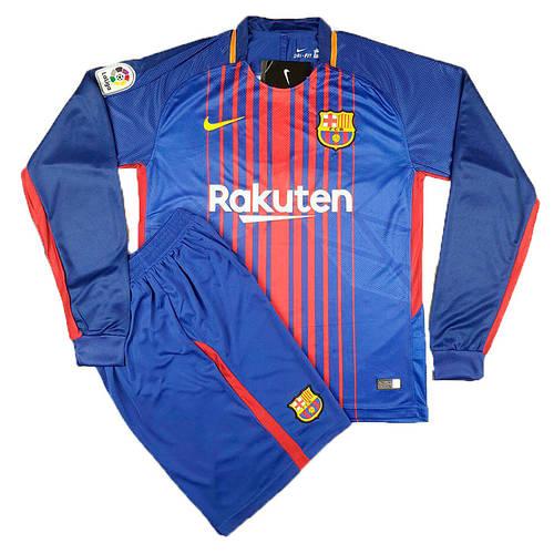Футбольная форма Барселона длинный рукав сезон 2017-18
