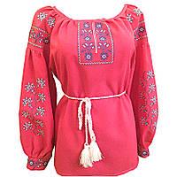 Вышиванка женская Авторская вышиванка 52 Красный (10578)