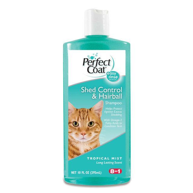 8in1 SHED CONTROL & HAIRBALL Shampoo 295 мл- шампунь против линьки для кошек