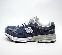 Мужские кроссовки New Balance 993, Made in USA, Темно-синие, Натуральная Замша