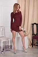 """Платье женское """"Роуз"""". Распродажа модели бордовый, 48, фото 1"""