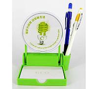 "Подставка для бумаги ""green"" с рамкой/лого"