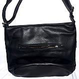 Женская черная сумка-клатч из лазерной кожи 26*25 см, фото 3