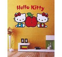 """Часы наклейки на стену """"hello kitty"""""""