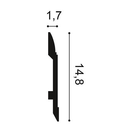 SX104 плинтус Orac DECOR. Материал дюрополимер, фото 2