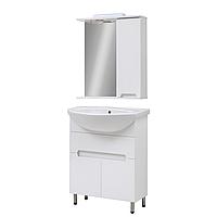 Мини-комплект мебели для ванной комнаты Марко 60 с зеркальным шкафом Юввис