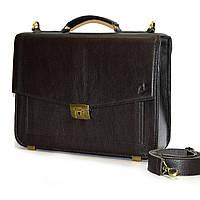 Портфель кожаный мужской Shmatko Темно-коричневый (SH2874)