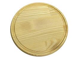 Доска круглая со сточным желобом КЕДР Украина 210х16 мм