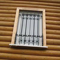 Решетка на окно сварная с элементами ковки - 60