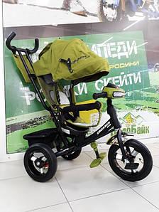 Велосипед 3-х колісний CROSSER ONE T-1-AIR надувні колеса, оливковий