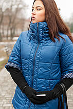 Женская синяя куртка весна-осень 54,56,78,80р, фото 2