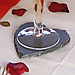 Костеры 12х10 см; сердце, натур., сланец, фото 7