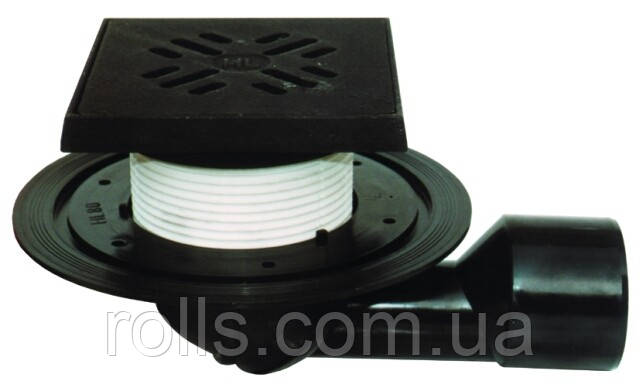 HL81G Трап для балконов и террас DN50/75 поворотный с морозоустойчивой запахозапирающей заслонкой
