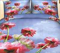 Комплект постельного белья (евро размер) № 779