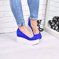 Туфли женские Vessa электрик 4250, балетки женские